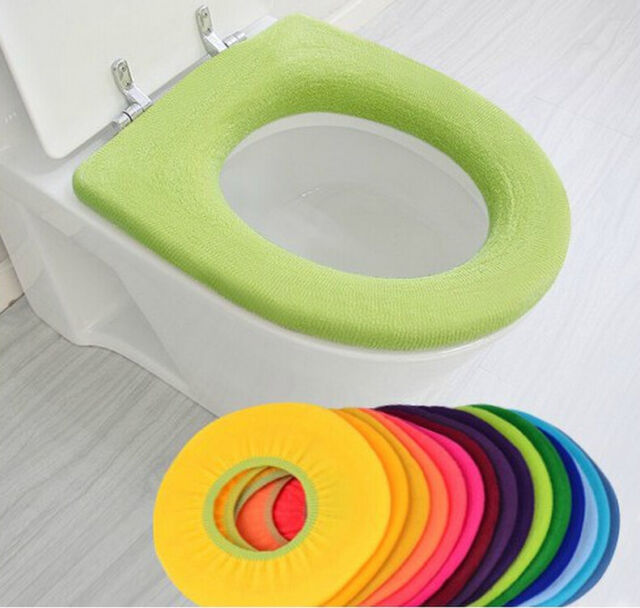 Weiche Closes Waschbar Deckel Top Cover Badezimmer Warmer WC-Sitz-Tuch Matt X5T2