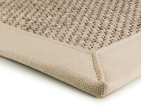 Super Jute Light Beige Rugs Canvas Bordered Rug In Natural Fibre Sisal 200x300cm