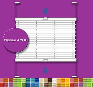 plissee faltrollo nach ma f r fenster und t r g nstig ebay. Black Bedroom Furniture Sets. Home Design Ideas