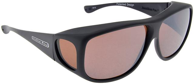 aaae17930794 Fitovers by Jonathan Paul Aviator Polarized Sunglasses AV001A XLarge Matte Black  Amber Large