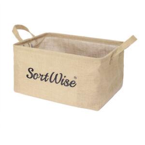 Folding Laundry Sorter Hamper Washing Clothes Toy Basket Storage Organizer