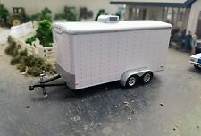 ☆ NO RESERVE ☆ GREENLIGHT enclosed trailer farm diorama car hauler Hitch and tow