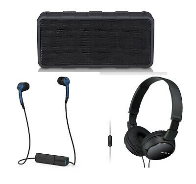 3-PACK Electronics Gift Portable Audio Bundle Speaker Bluetooth Sony Headphones