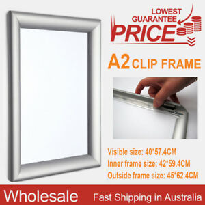 PREMIUM-A2-Aluminum-Wall-Poster-Frame-Snap-Clip-Holder-Elevator-OZ