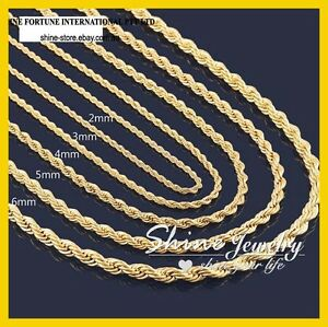 18K-YELLOW-GOLD-GF-SOLID-TWIST-WAVE-ROPE-CHAIN-MENS-LADIES-GIRLS-LONG-NECKLACE