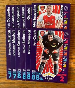 Topps Match Attax 2016//17 Premier League Trading Cards 273-279