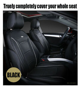 Custom Made Car Seat Cover Full Set Black For BMW5 A4