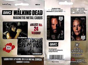 AMC The Walking Dead Magnetic Metal Cards 24 Sealed Packs