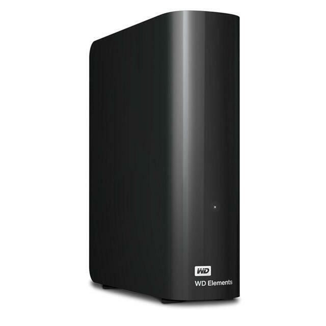 WD Elements 10TB USB 3.0 Desktop Hard Drive Black WDBWLG0100