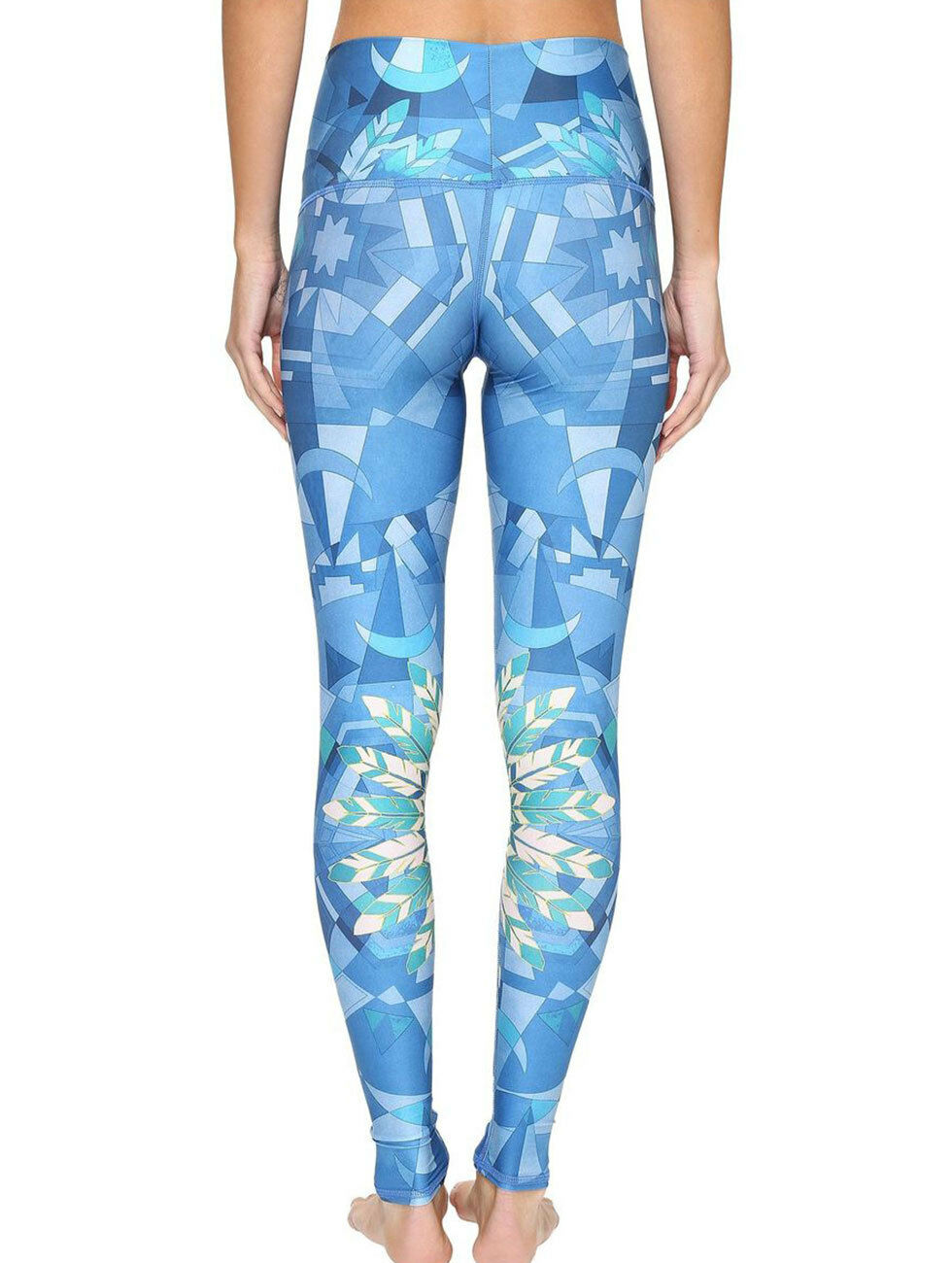 Teeki Yoga Pants bluee Lightning In A Bottle Large Pilates Fitness Gym Made USA