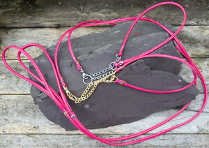 Dog-Show-Lead-and-Collar-Soft-Nappa-Luxury-Leather-Rose-Pink