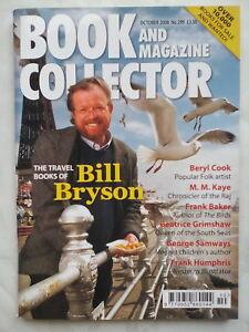 BOOK AND MAGAZINE COLLECTOR.BILL BRYSON.NO 299,OC 08.BERYL COOK ART.FRANK BAKER