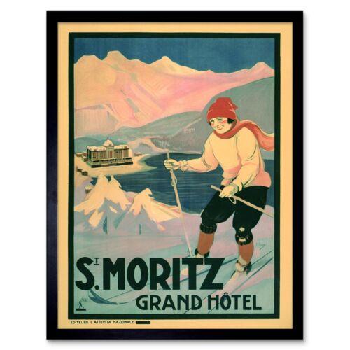 Travel Tourism Winter Sport Ski Poland Snow 12X16 Inch Framed Art Print