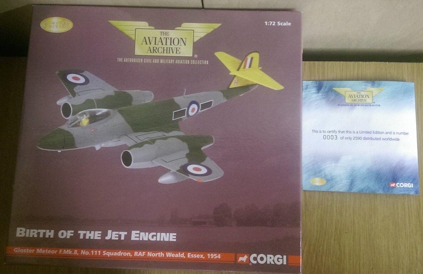 CORGI AA35010 Gloster Meteor F.Mk.8 No.111 ESC North Weald LTD ED. 0003 de 2590