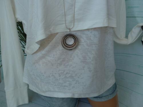 NEUF Heine Shirt Chemisier Femmes Taille 34 à 48 Crème Lagen Look 2 in 1 effet 527