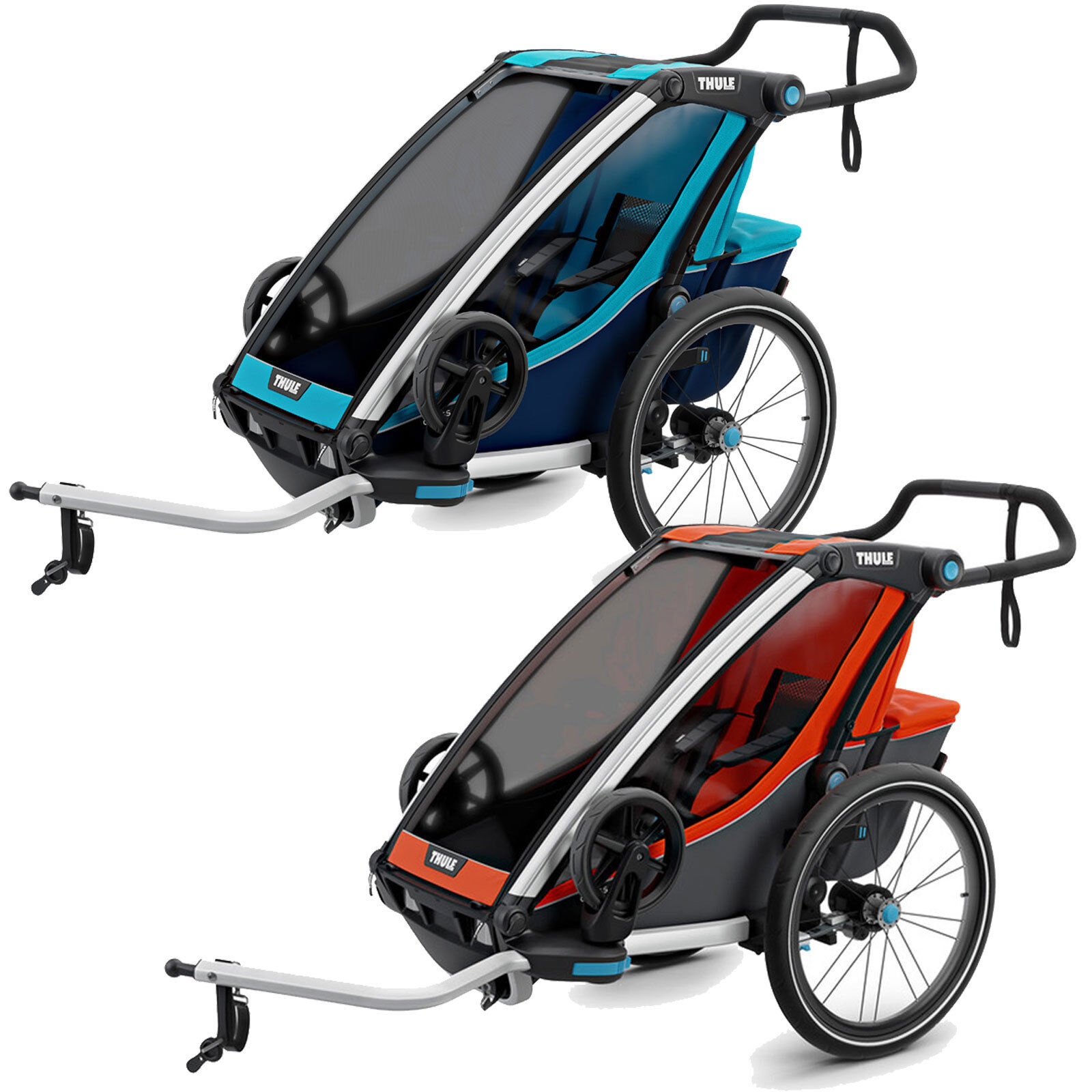 Thule Chariot cross 1 Coupling Kinder-Fahrradanhänger Single-Seater New