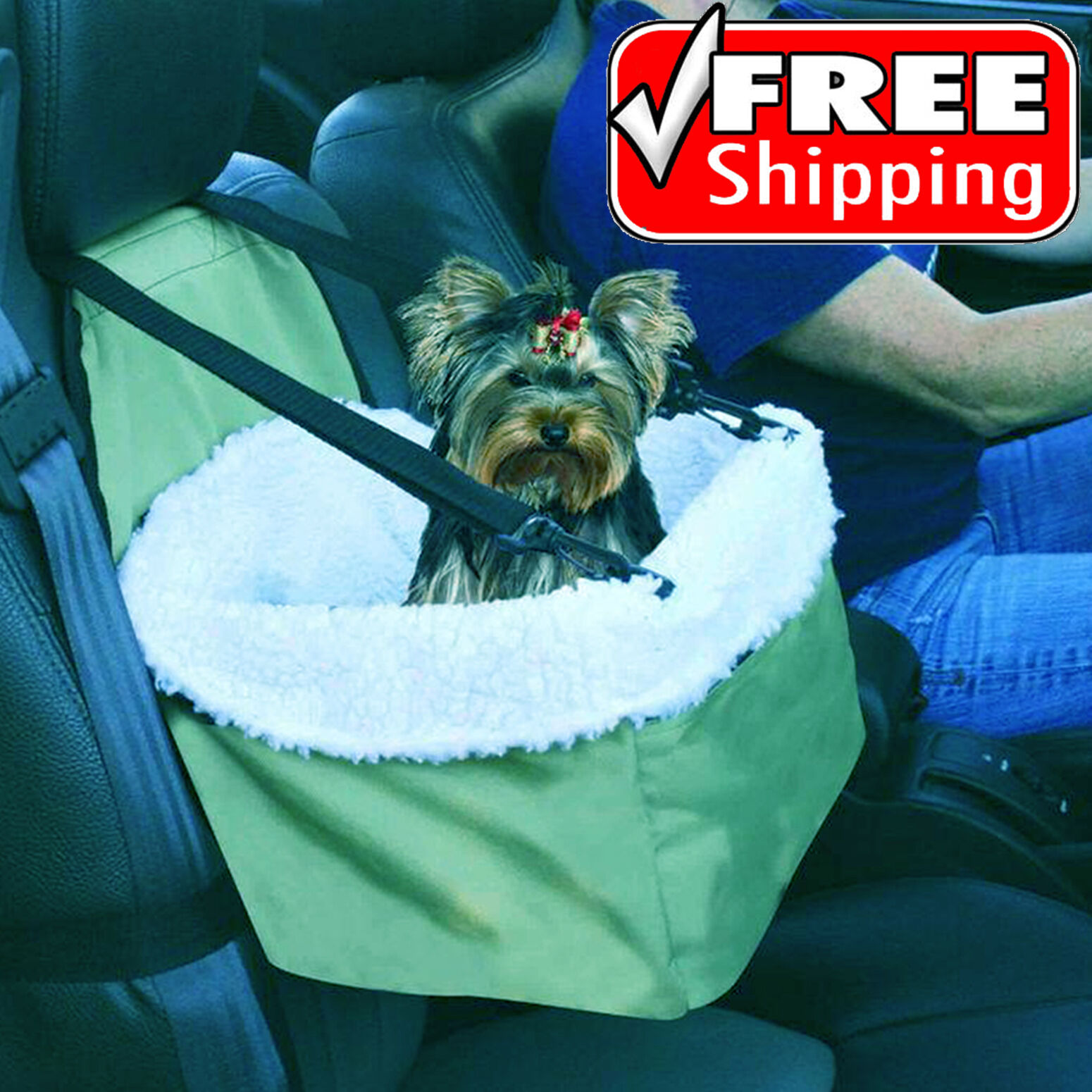 Car Seat For Dog Pet Cat Booster Blanket Chair Zippered Puppy Carrier Soft Kitty