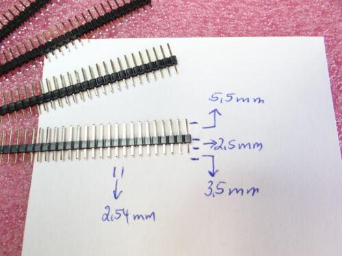 5 Stück Stifleiste Adapterleiste Sockelleiste trennbar vergoldet 25polig 2,54mm