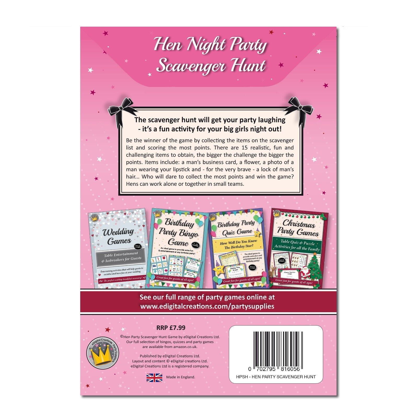 Astonishing Hen Night Party Games Fun Scavenger Hunt Game For Do Bridal Shower Or Girls Interior Design Ideas Apansoteloinfo