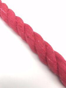 14mm-Rojo-Algodon-Natural-cuerda-piezas-por-metro-100-NATURAL-puro