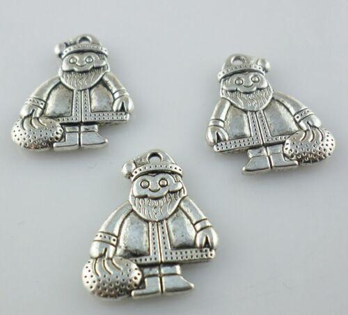 12//24pcs Tibetan Silver Christmas Snowman Charms Pendants 16x18mm Findings