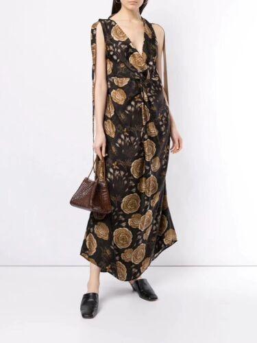EEUC UMA WANG knot detail floral print dress SZ S