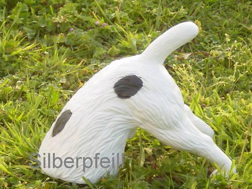 Halber Hund Buddel Hund Buddelnder ohne Kopf Figur Gartenfigur Tierfigur  622
