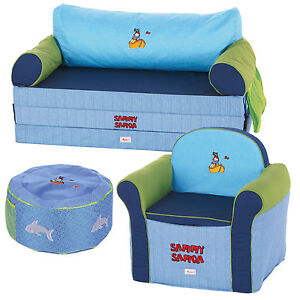 sigikid kinderm bel klappsofa kindersofa kindersessel sitzkissen blau. Black Bedroom Furniture Sets. Home Design Ideas