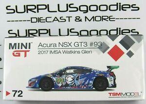 Mini-GT-TSM-Model-Overseas-Edition-LHD-ACURA-NSX-GT3-2017-IMSA-Watkins-Glen-93