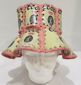 Image is loading Vintage-Coors-Banquet-Beer-Can-Bucket-Hat-Crochet- a289c81787b