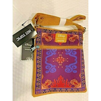 DISNEY ALADDIN MOVIE LOUNGEFLY JASMINE MAGIC CARPET PASSPORT CROSSBODY PURSE BAG