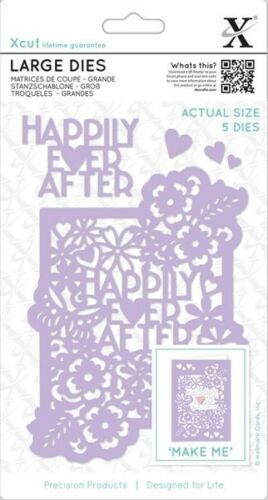 5 PIECE DIE SET NEW 2017 DOCRAFTS XCUT LARGE DIES HAPPILY EVER AFTER