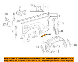 s l300 toyota tacoma passenger rear bed side protector 76927 04010 ebay