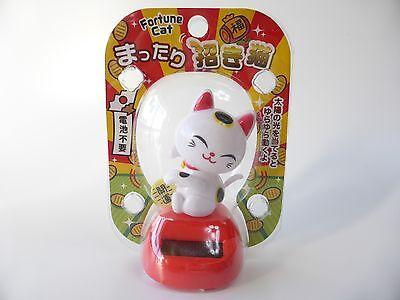 Japanese Fortune Cat MANEKI NEKO Solar Power Dancing Figure FREE SHIPPING Type A