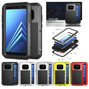 buy online 3826b 0c204 Details about For Samsung Galaxy A8 2018 Aluminum Metal Case Shockproof  Cover w/Tempered Glass