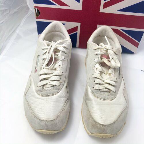 Vintage REEBOK CLASSIC NYLON WHITE LT GREY 1-6394
