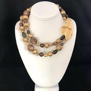 Vintage-Givenchy-Necklace-Strand-Brushed-Gold-Leaf-Design-RUNWAY-Couture-14B