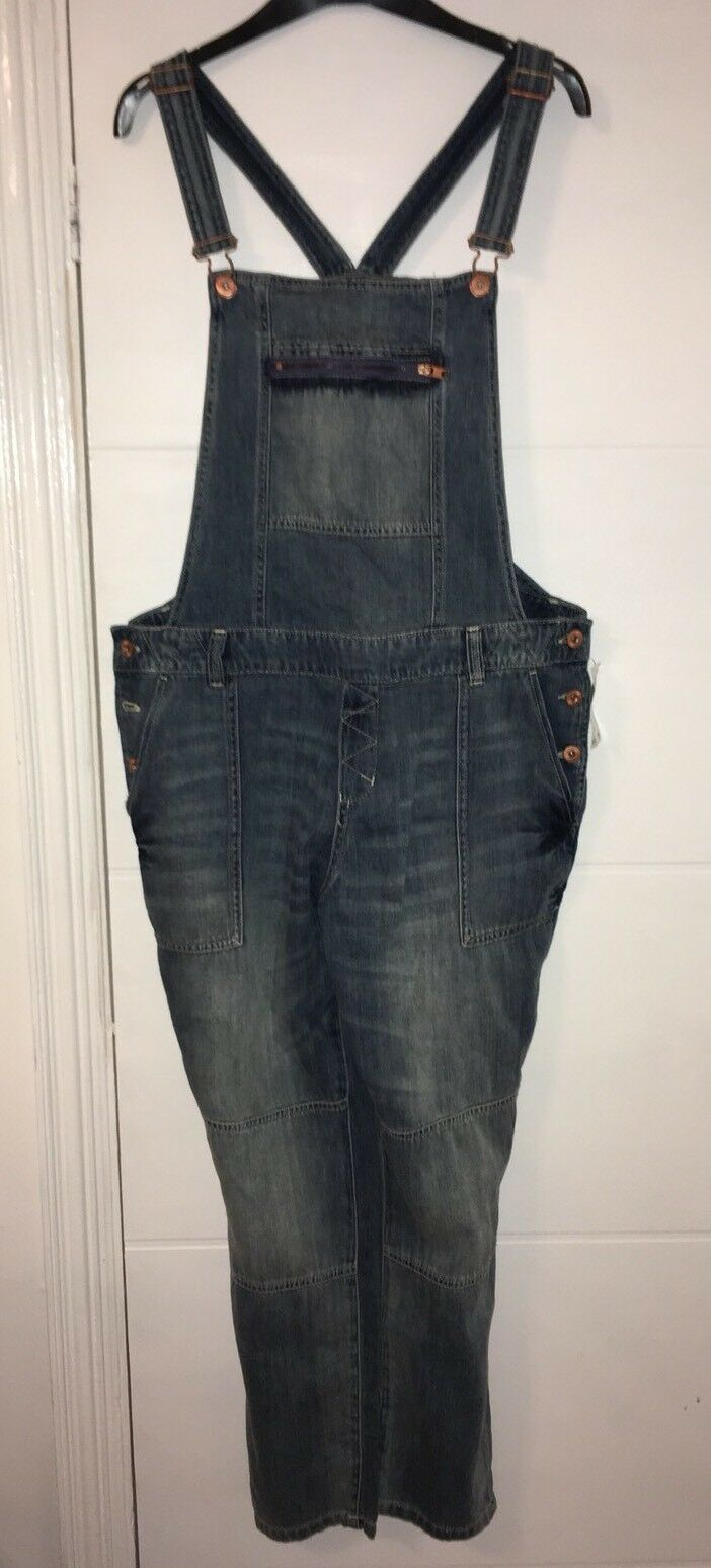 H & M Denim Dungarees Size Medium New With Tags