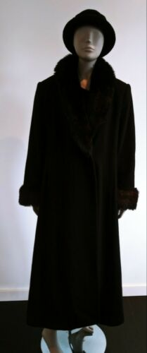 J. Percy For Marvin Richards Fur Trimmed Satin Lin