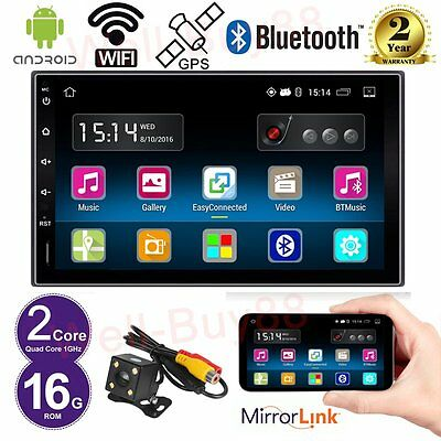 """Android 7"""" Quad Core 2 Din Stereo Car NO DVD player GPS Radio SD/BT/Wifi Camera"""