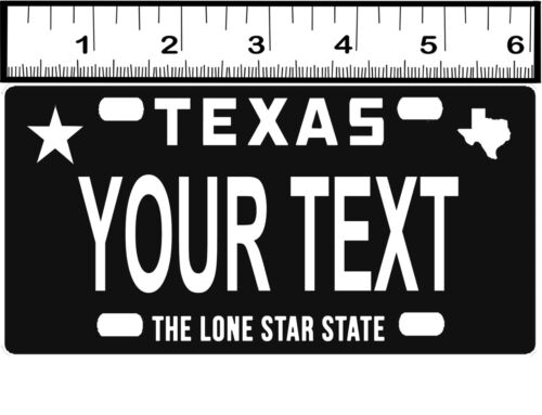 CUSTOM PERSONALIZED BICYCLE MINI STATE LICENSE PLATE-TEXAS 5