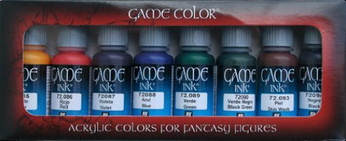 Acrylic Vallejo BNIB Ink Set 72296