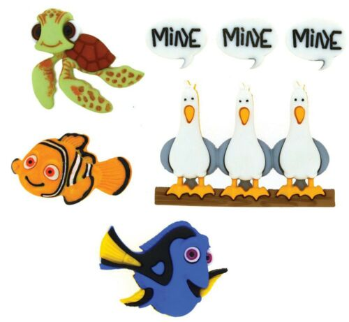 DISNEY FINDING NEMO Buttons Dress It Up Button Embellishments Jesse James New
