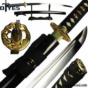 Full-Handmade-1060-Carbon-Steel-Blade-Full-Tang-Japanese-Samurai-Katana-Sword