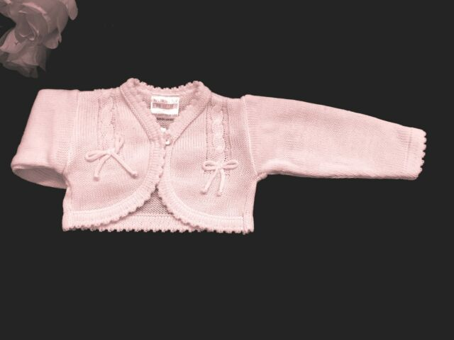 41192d863070 Dandelion Unisex Baby Knitted Bolero Cardigan for 0 - 3 Months Pink ...