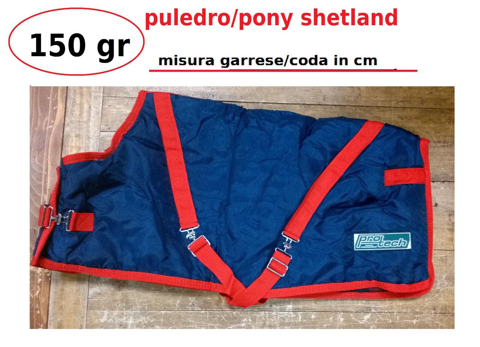 Coperta puledro pony invernale piumone imbottita 150 gr Umbria blu box scuderia