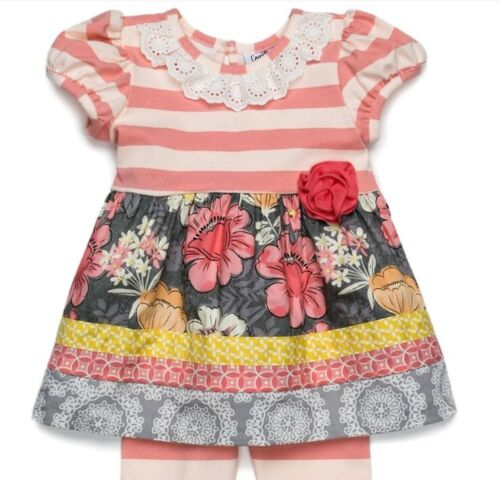 Counting Daisies Baby Girl/'s Spring Floral Dress /& Legging Set-Size-18M or 24M