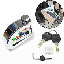 Motorbike Alarm Disc Lock In Chrome Scooter Motorcycle Bike Security (NEW)