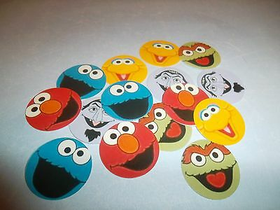 Pre Cut One Inch Bottle Cap Images ELMO Free Shipping