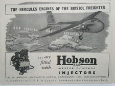 10/1946 PUB HOBSON BRISTOL FREIGHTER HERCULES ENGINES AMERICA TOUR ORIGINAL AD